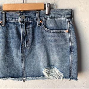 Levi's Cutoff Jean Mini Skirt - Size 10